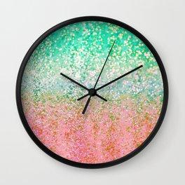 Summer Rain Merge Wall Clock