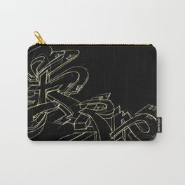 Extra black gold Carry-All Pouch