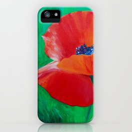 Single Poppy iPhone Case