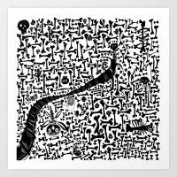 Bonescape Old Bones Art Print