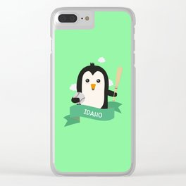 Baseball Penguin from IDAHO  T-Shirt for all Ages Clear iPhone Case