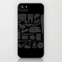 Useful Facts (On Black) iPhone Case