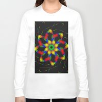 fractal Long Sleeve T-shirts featuring Fractal by Marisa Lopez-Cruzan