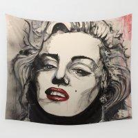 monroe Wall Tapestries featuring Monroe by Matt Hortop