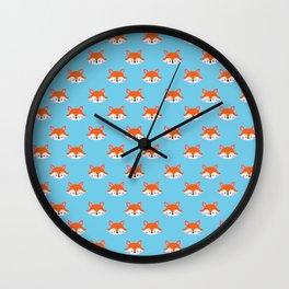 Cute fox Wall Clock