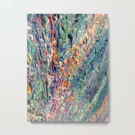 Bloom - palette knife abstract floral painting by Adriana Dziuba Metal Print