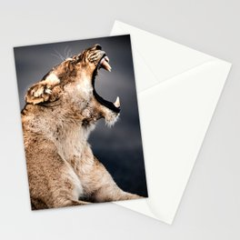 Growling Lioness Stationery Cards
