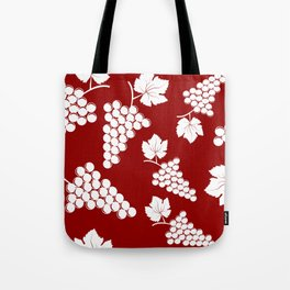 Seamless background with bunches of grapes Tote Bag