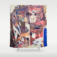 monkey Shower Curtains featuring monkey by echo3005