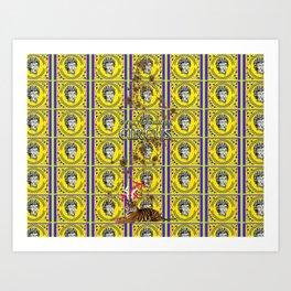 Bwilly Bwightt's Circus  Big Dirty Cat Art Print