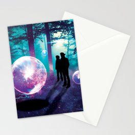 Forest Orbs Stationery Cards