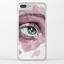 Pink eye Clear iPhone Case