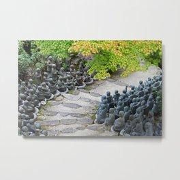 Buddhist Statues Garden Metal Print