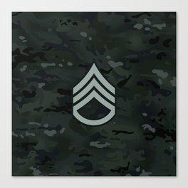 Staff Sergeant (Black Camo) Canvas Print