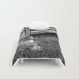 Vintage Black And White Structure Comforters