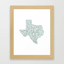 Crossing Paths in Texas Framed Art Print