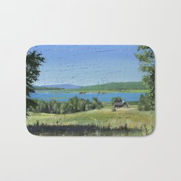 cabin - by phil art guy Bath Mat