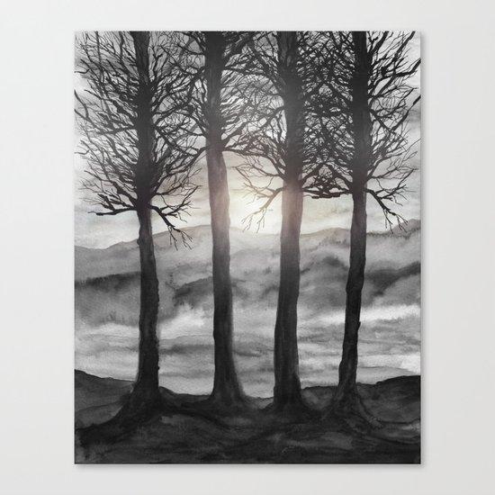 Grateful Love Song B&W Canvas Print