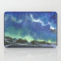 northern lights iPad Cases featuring Northern Lights by Aikunihana