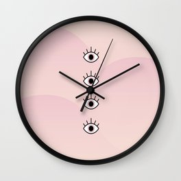 4 Seeing Eyes Wall Clock