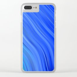 stripes wave pattern 1 c80v Clear iPhone Case