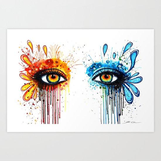 """We need contrasts"" Art Print"