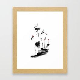7 Cranes Framed Art Print