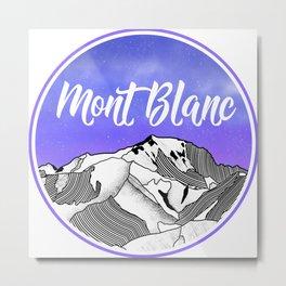 Mont Blac Metal Print