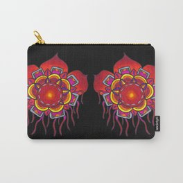 Red Flower Design Carry-All Pouch