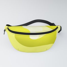 Yellow Swirling Abstract Modern Art Simple Decor Fanny Pack