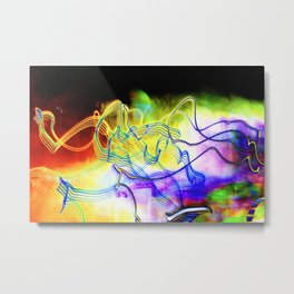 SYNESTHESIA Light Painting Experiment 117 Metal Print