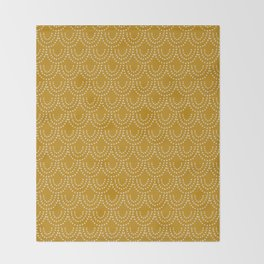 Dotted Scallop in Gold Throw Blanket