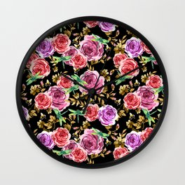 Insects and Flowers Wall Clock