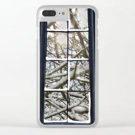 Winter Window Clear iPhone Case