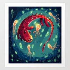 :::Sea Dragon::: Art Print