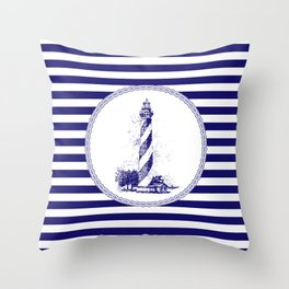 Marine - lighthouse Throw Pillow