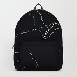 Maine State Road Map Backpack