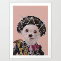 mexican Art Prints featuring Mexican Chihuahua by Rachel Waterman