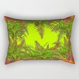 DECORATIVE GOLDEN BROWN FERN GARDEN ART Rectangular Pillow