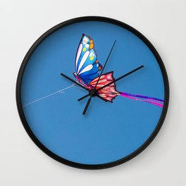 Kite Butterfly Wall Clock