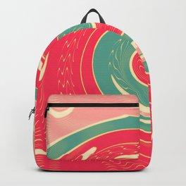 Big red wave Backpack