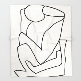 Abstract line art 2 Throw Blanket