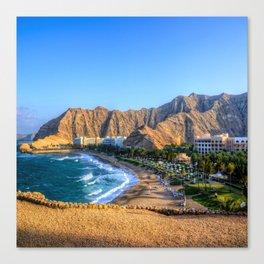 Shangri la resort Muscat Oman Canvas Print