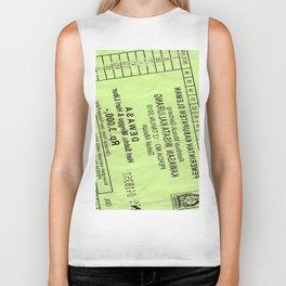 Ticket Print Biker Tank