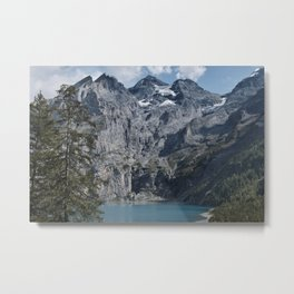 The beautiful Oeschinensee (blue lake) in Switserland Metal Print