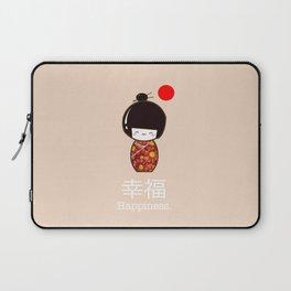 Geisha Girl Happiness Kawaii Laptop Sleeve