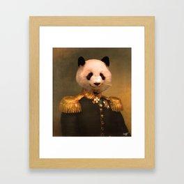 Panda Bear General | Cute Kawaii Framed Art Print