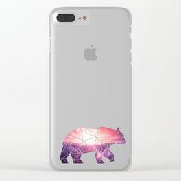 Bear in polygone Clear iPhone Case