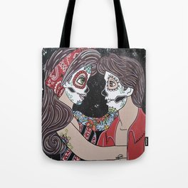 Rockabilly Sugar Skull Tote Bag