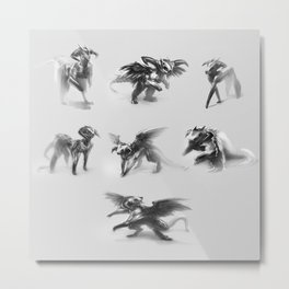 Dragon Sketches Metal Print